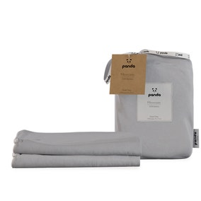 Panda Bamboo Quiet Grey Pillowcase Pair