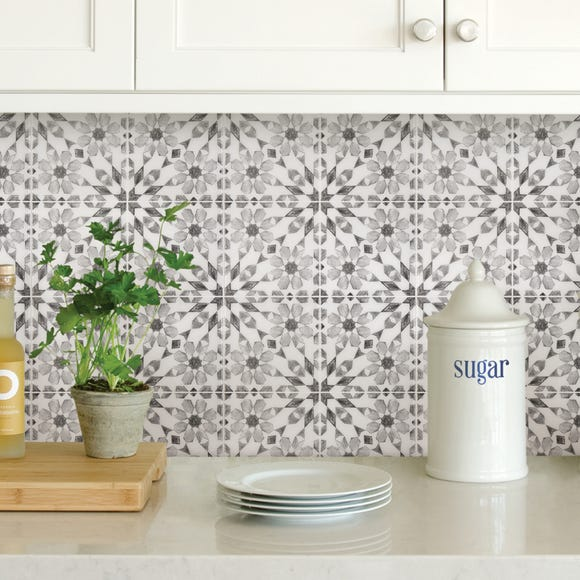 InHome Catalan Self Adhesive Backsplash Tiles Grey