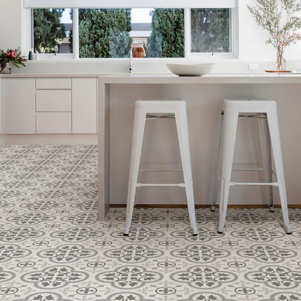 Floorpops Remy Self Adhesive Floor Tiles Grey