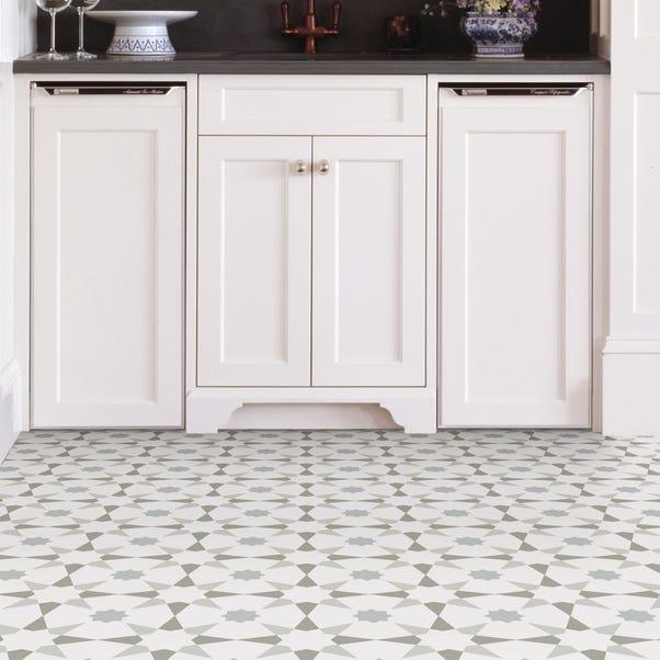 Floorpops Stellar Self Adhesive Floor Tiles Grey