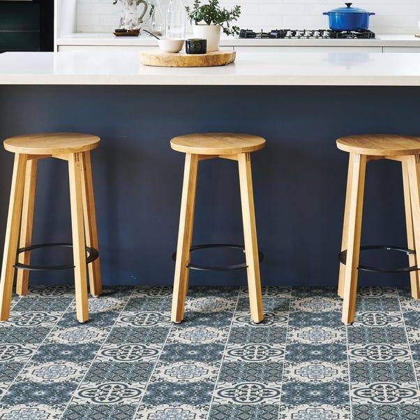 Floorpops Myriad Self Adhesive Floor Tiles Blue