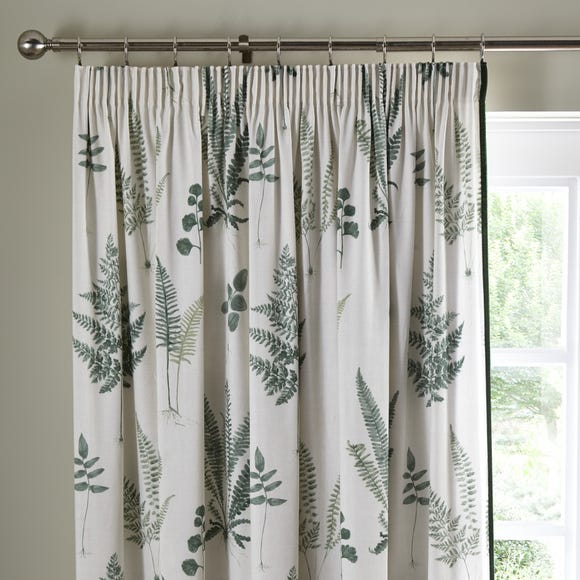 Fern Green Pencil Pleat Curtains  undefined