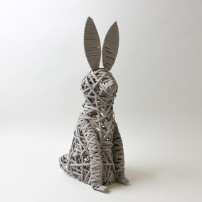 Standing Wicker Rabbit