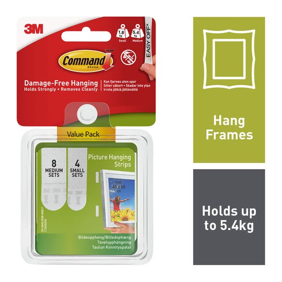 Command Small Medium Value Pack White