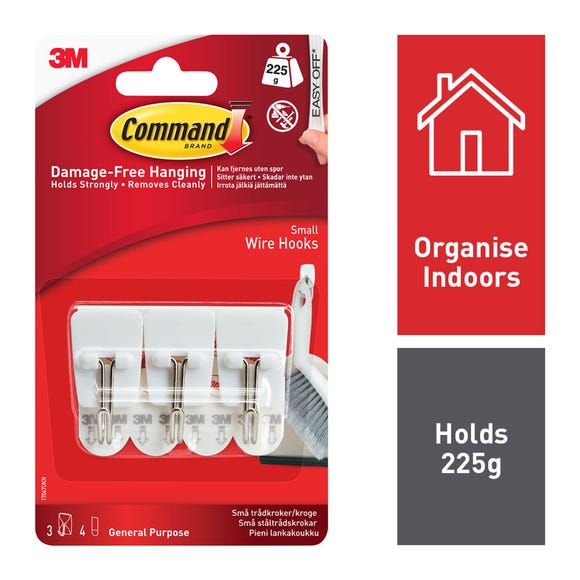 Command Small Wire Hooks White