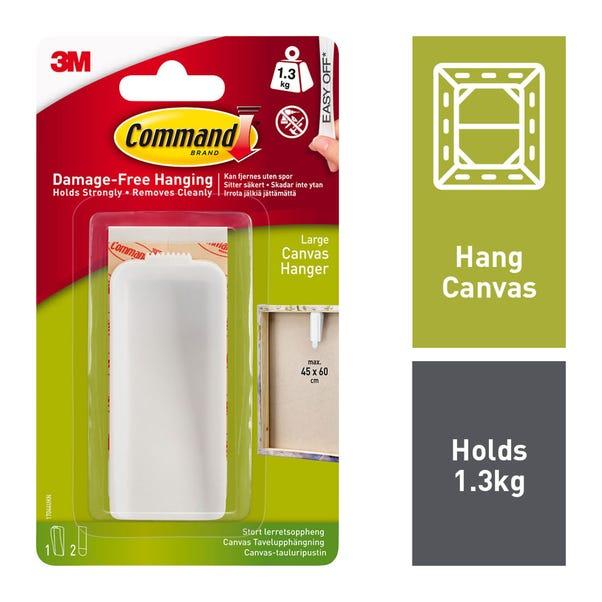 Command Canvas Hanger Large White