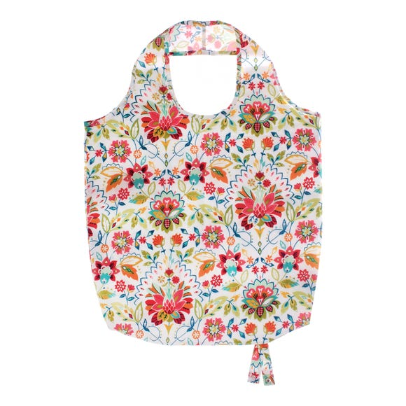 Ulster Weavers Bountiful Floral Polyester Reusable Shopping Bag Pink