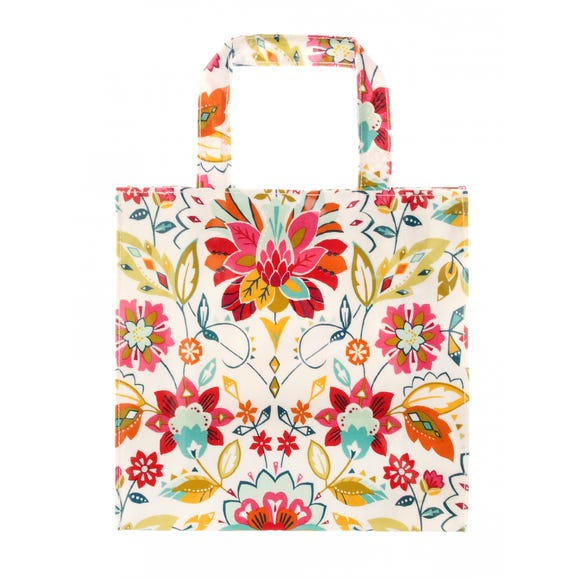 Ulster Weavers Bountiful Floral PVC Small Reusable Shopping Bag Pink