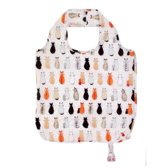 Ulster Weavers Cats in Waiting Polyester Reusable Shopping Bag Orange