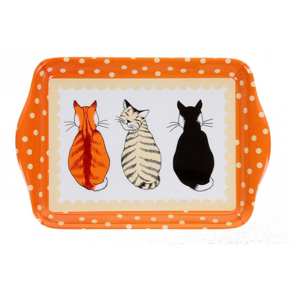 Ulster Weavers Cats in Waiting Melamine Tray Orange