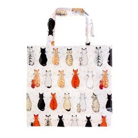 Ulster Weavers Cats in Waiting PVC Small Reusable Shopping Bag