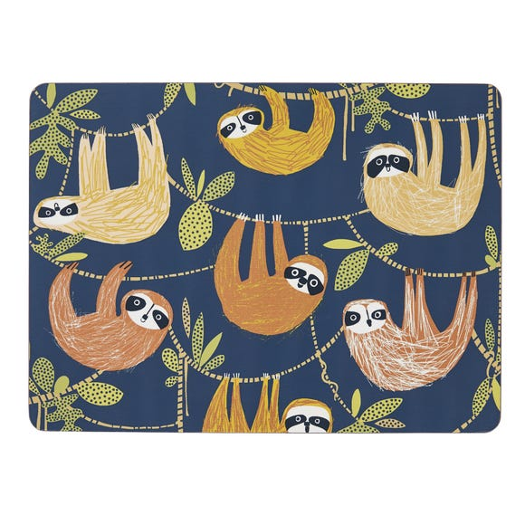 Ulster Weavers Hanging Around Pack of 4 Placemats Blue