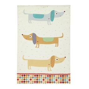 Ulster Weavers Hot Dog Sausage Dog Cotton Tea Towel