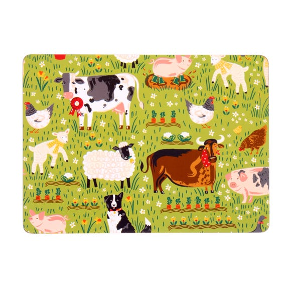 Ulster Weavers Jennie's Farm Set of 4 Placemats Green