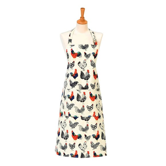 Ulster Weavers Rooster Cotton Apron Off-White