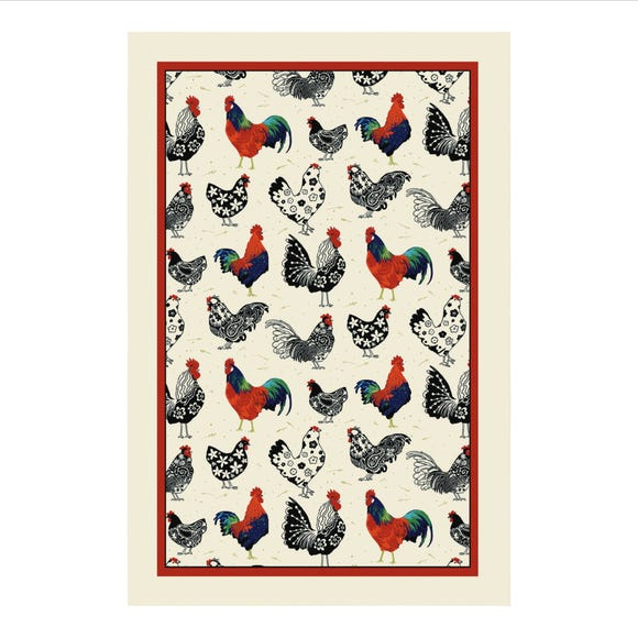 Ulster Weavers Rooster Cotton Tea Towel Off-White