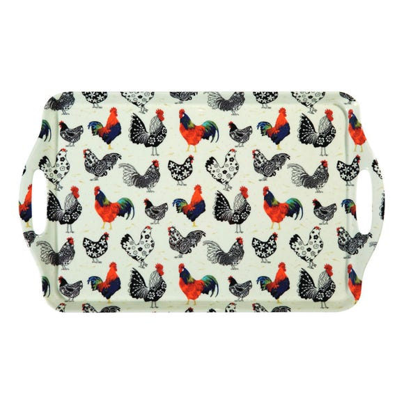 Ulster Weavers Rooster Large Melamine Tray Off-White