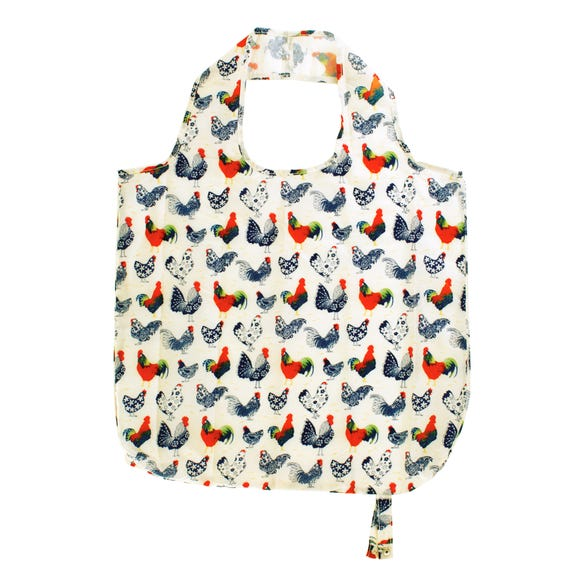 Ulster Weavers Rooster Packable Reusable Shopping Bag Off-White