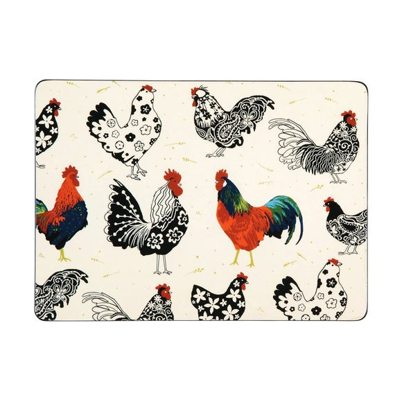 Ulster Weavers Rooster Set of 4 Placemats Off-White