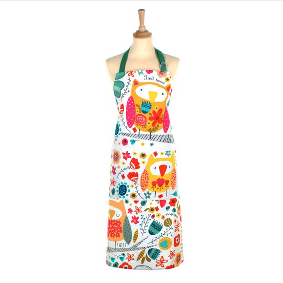 Ulster Weavers Twit Twoo Cotton Apron MultiColoured