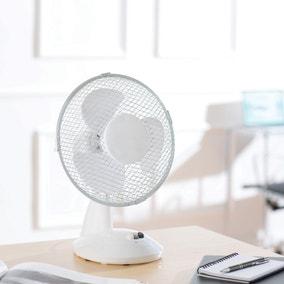 """9"""" White Desk Fan"""