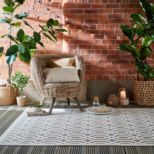 Mondo Geometric Indoor Outdoor Rug Mondo Natural undefined