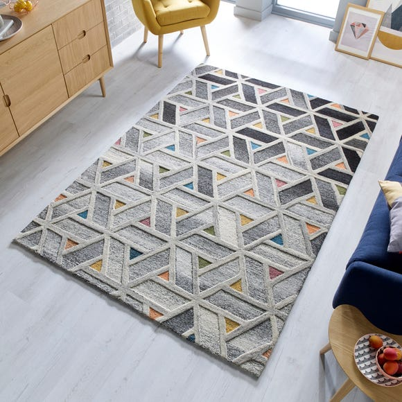 River Geometric Rug  undefined