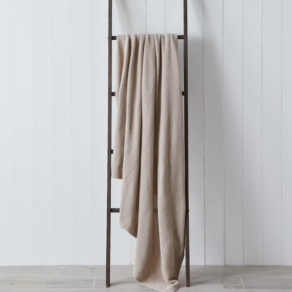 Thea Recycled Knitted 130cm x 180cm Throw Thea Mink
