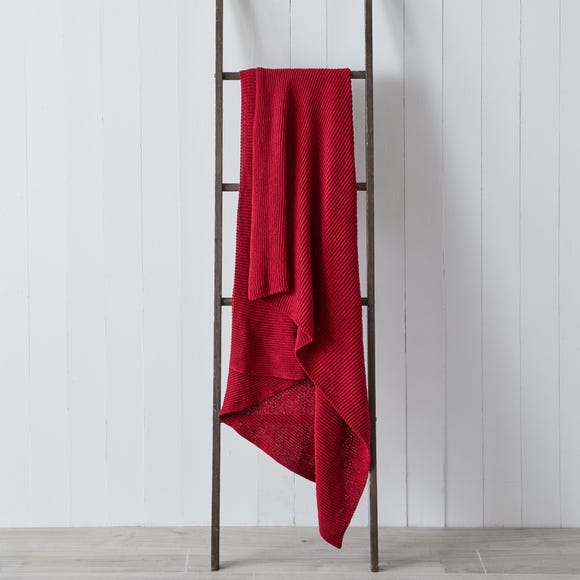 Thea Recycled Knitted 130cm x 180cm Throw Thea Fuchsia