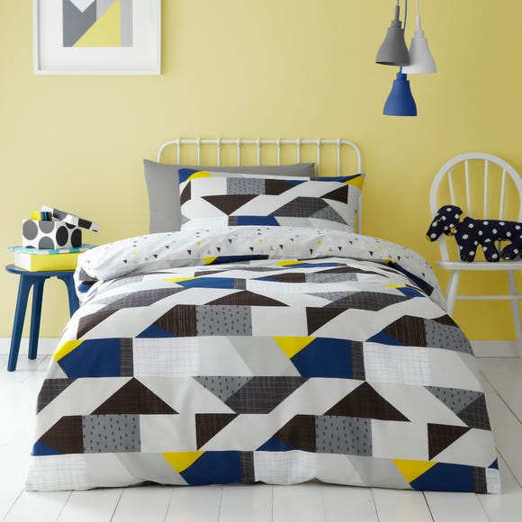 Graphic Geo 100% Cotton Duvet Cover and Pillowcase Set  undefined