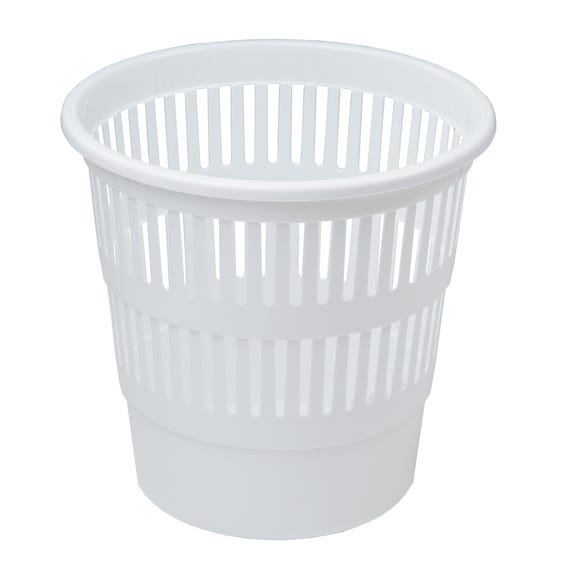 Everyday Waste Paper Basket White