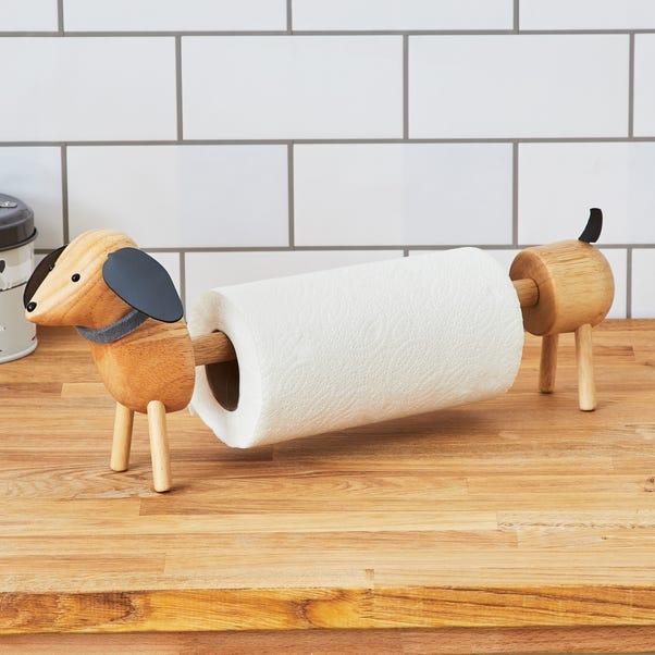 Bertie Sausage Dog Kitchen Roll Holder Natural