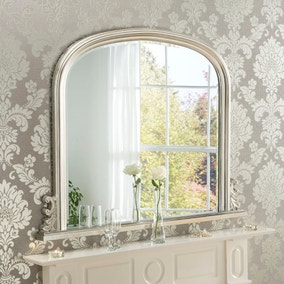 Yearn Overmantle Mirror 94x120cm Silver