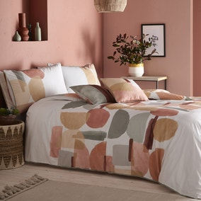 Appletree Duval Geo 100% Cotton Reversible Duvet Cover and Pillowcase Set
