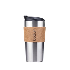 Bodum Stainless Steel and Cork 350ml Travel Mug