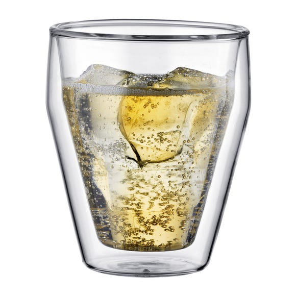 Bodum Titlis Set of 2 Double Wall Tumbler Glasses Clear