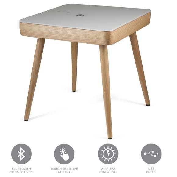 Carl Smart Side Table Natural