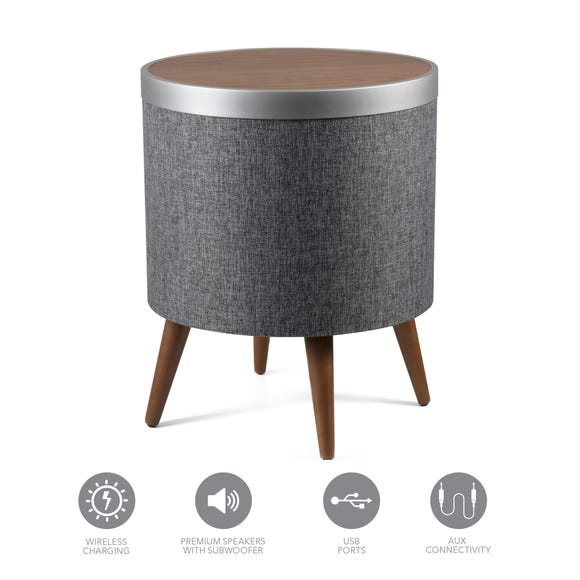 Zain Smart Side Table Grey
