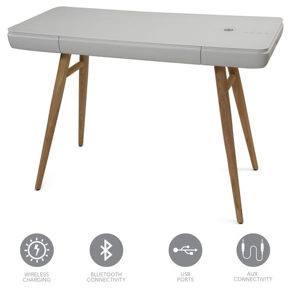 Bodie Smart Desk White