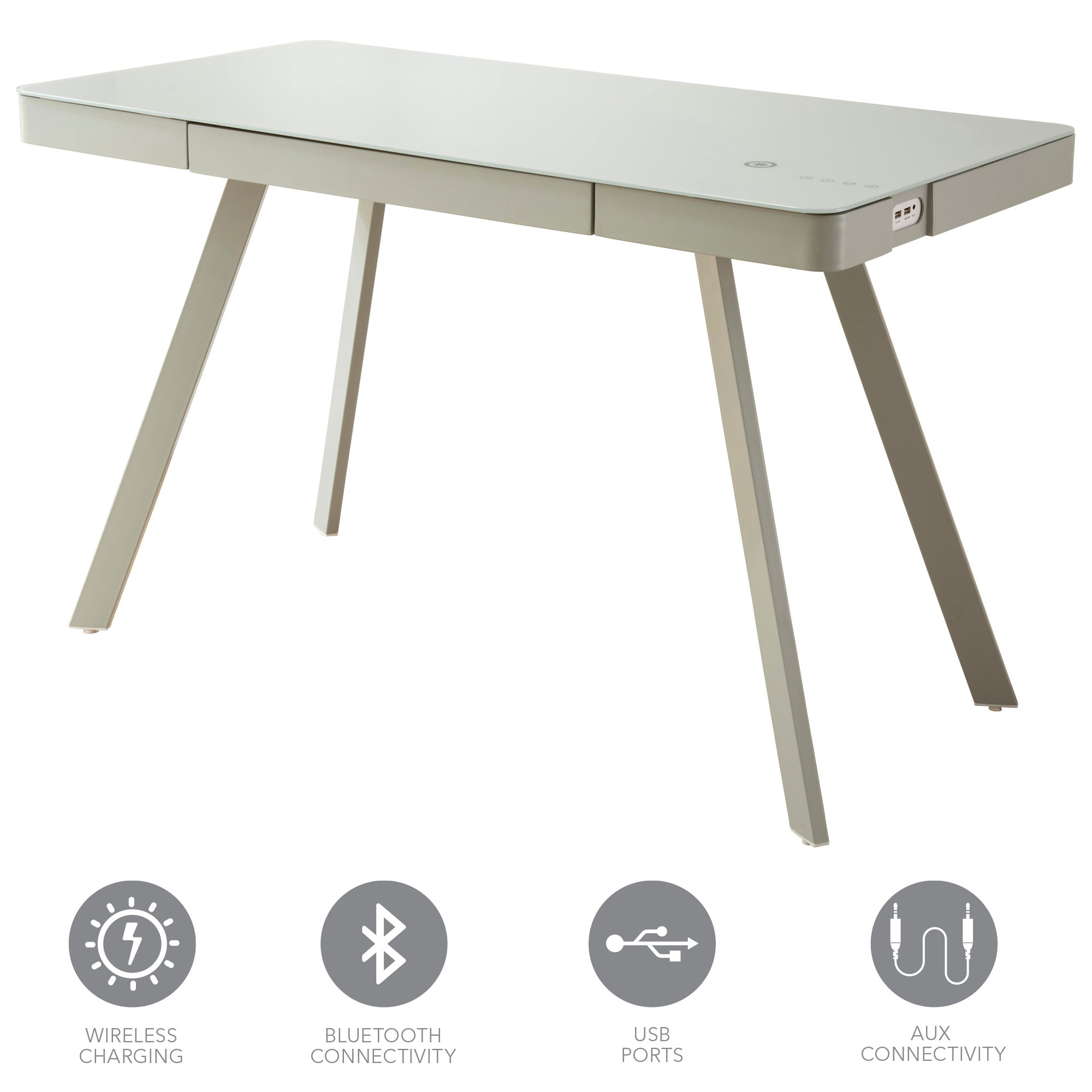 Koble Silas Smart Desk Grey 74x120x60cm