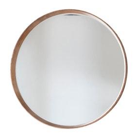Keaton 73cm Oak Round Mirror