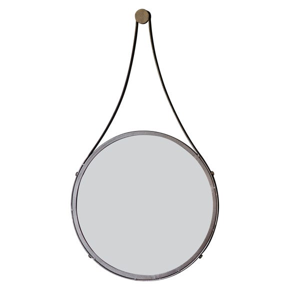 Broadway 41cm Round Mirror Brown