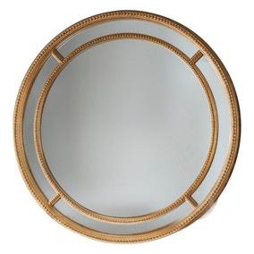 Sinatra Gold Round Mirror