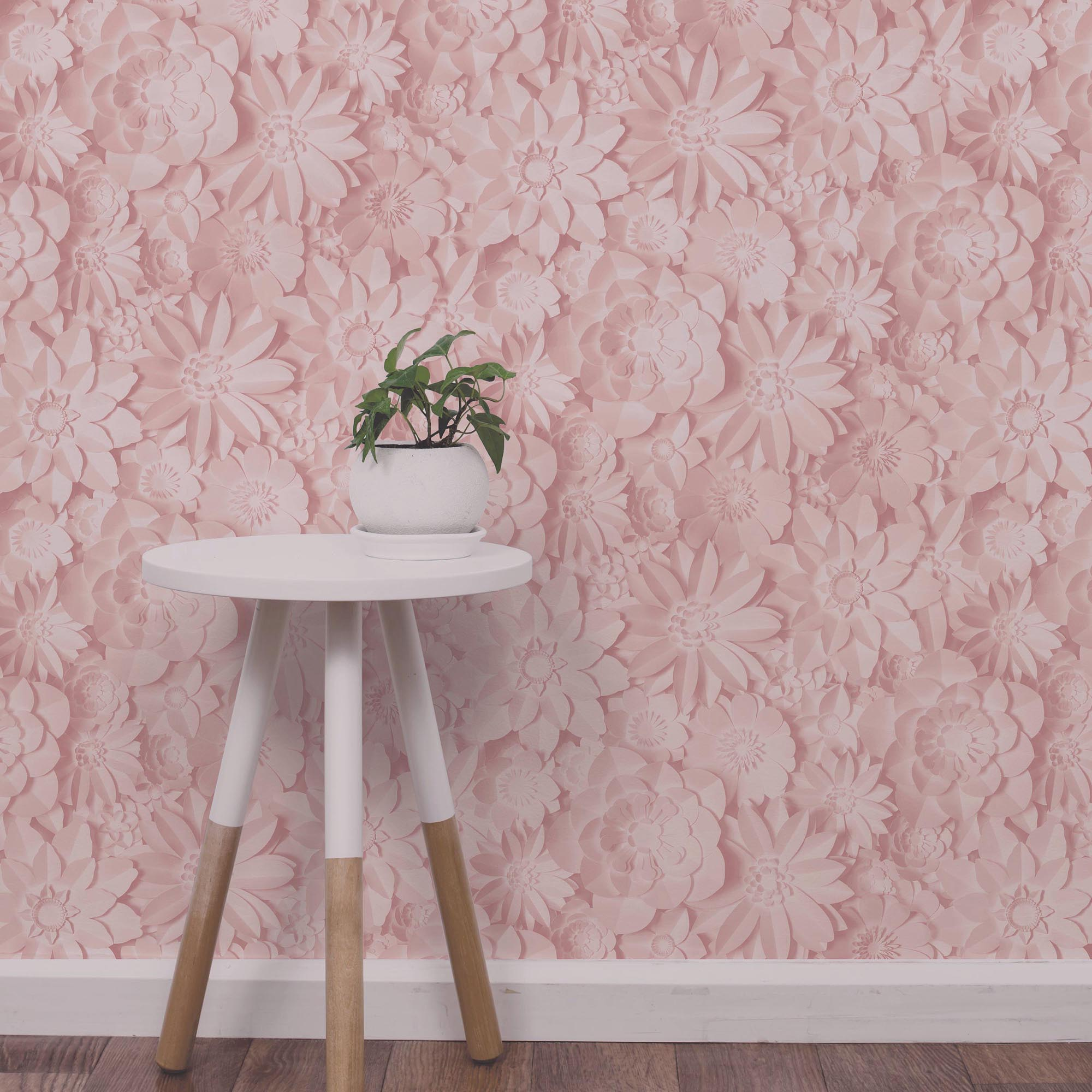 Click to view product details and reviews for Dimensions Pink Floral 3d Wallpaper Pink.