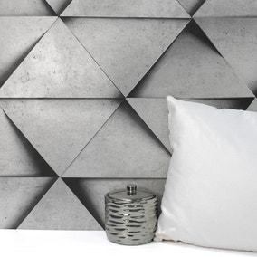 Dimensions Silver Triangle 3D Wallpaper