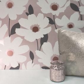 Mia Blush Floral Wallpaper