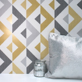 Scandi Mustard Geo Wallpaper