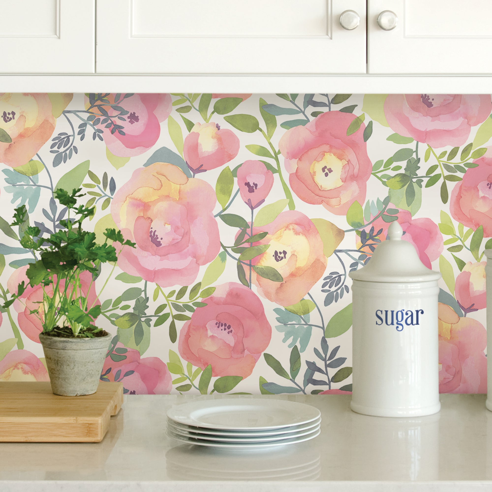 Click to view product details and reviews for Nuwallpaper Peachy Keen Pink Self Adhesive Wallpaper Pink.