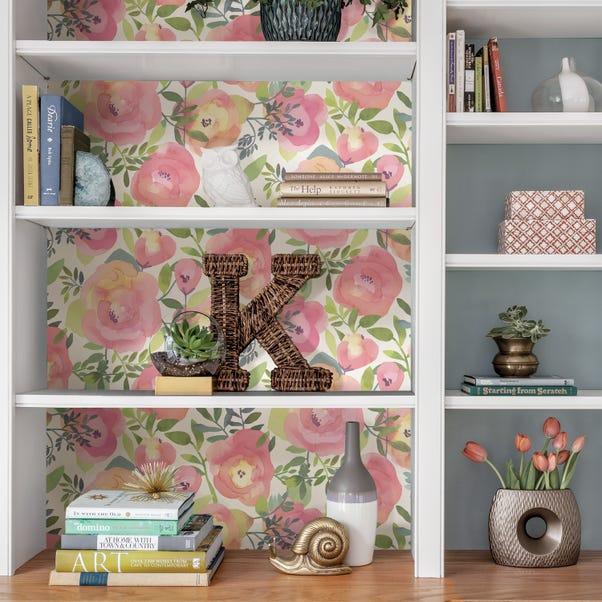 NuWallpaper Peachy Keen Pink Self Adhesive Wallpaper Pink