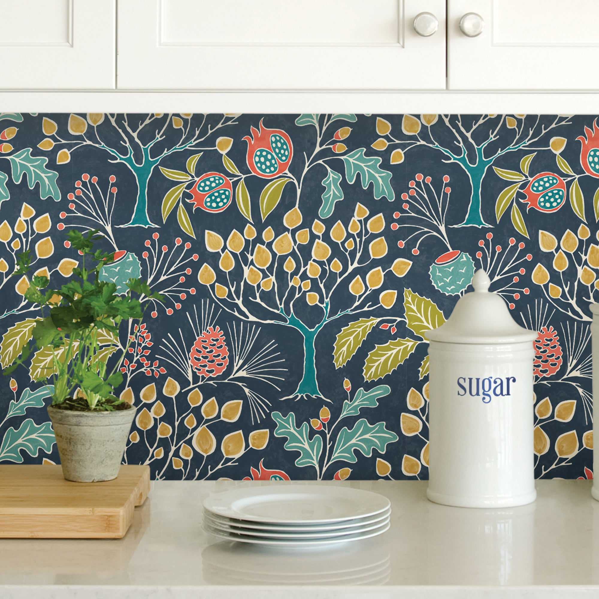 Click to view product details and reviews for Nuwallpaper Groovy Garden Navy Self Adhesive Wallpaper Navy.